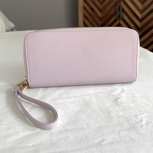 A New Day never used lilac wallet with gold tone
